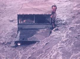 Crossing a PNG river (Jim Dean 1968)