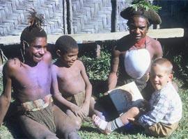 Kirk with Kewa friends (1961)